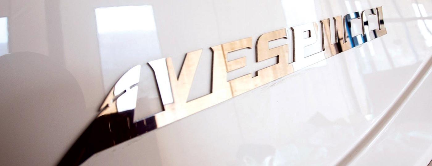 Immagine logo in acciaio Vespucci Nautical